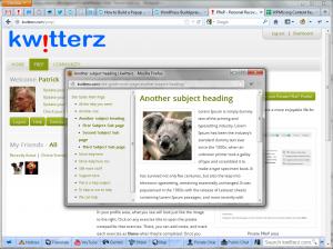 WordPress Site Popup Help - Screenshot of example popup window