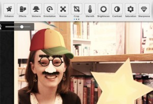 Image Editor-Screenshot of Aviary image editing interface in action