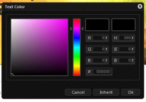 Theme generator-Screenshot of Lubith flexible color picker