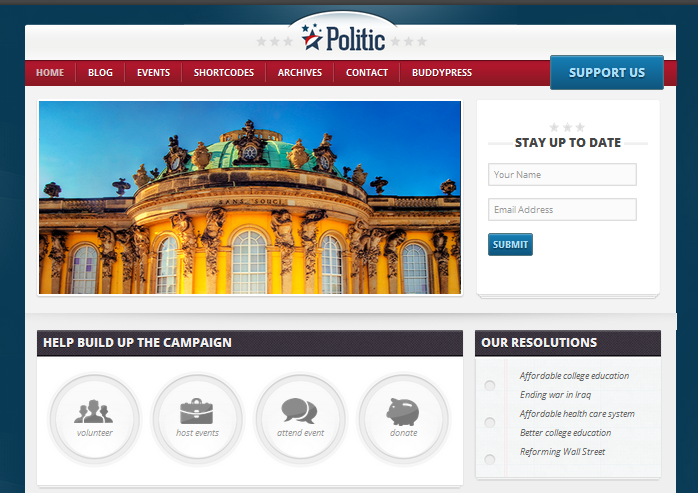 politic theme for buddypress and wordpress
