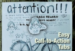 Call To Action-Post for missing bicycle