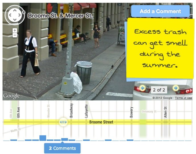 Google Street View Comments