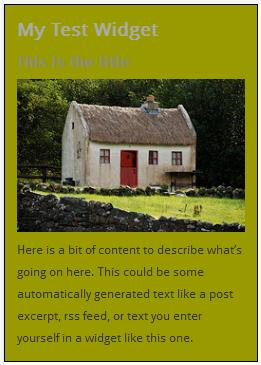 WordPress Widgets - Screenshot of a test widget 3