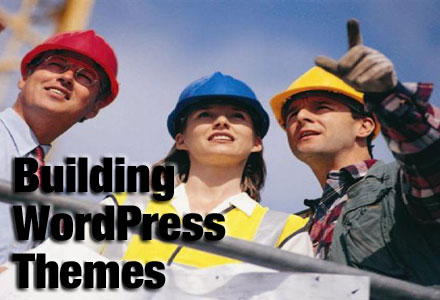 WordPress Theme Generator-Photo of 3 staff at a construction site observing building