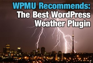 WordPress Weather Widget-Sky full of lightning