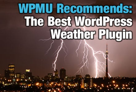 WordPress Weather Widget-Sky full of lightning