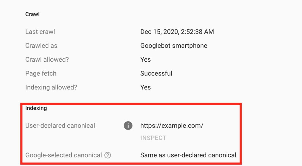 Google canonical