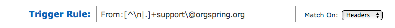 Aweber custom email parser trigger rules