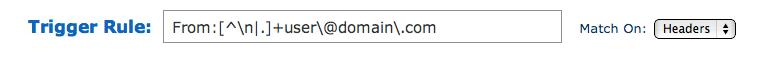Aweber custom email parser trigger rules.