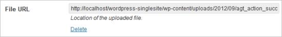 WordPress Media Library Lists - Screenshot of Media library file URL