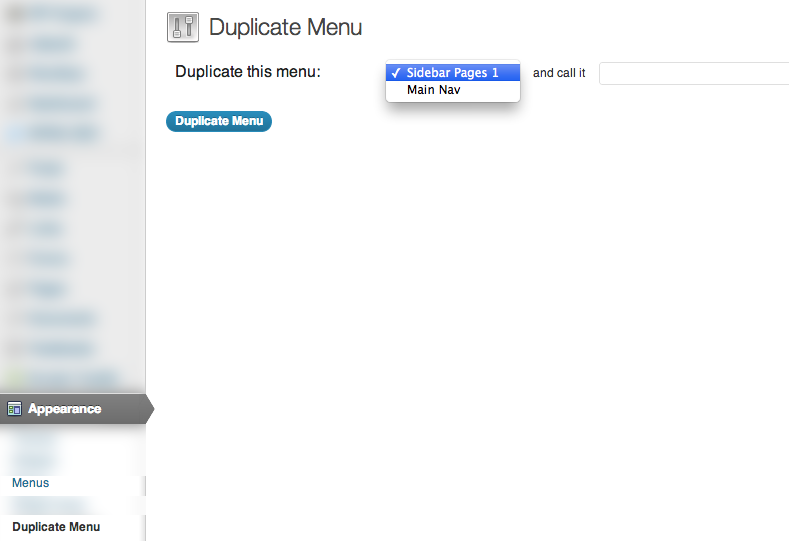 2 - Viewing the Duplicate Menu plugin options
