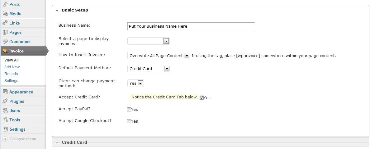 Wp Invoice Plugin