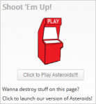 Fun WordPress plugins - Asteroids Widget
