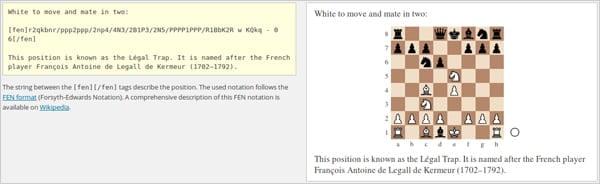 RPB Chessboard plugin screenshot.