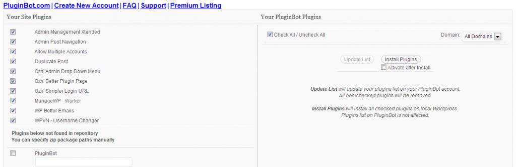 PluginBot - First Login - Existing Website