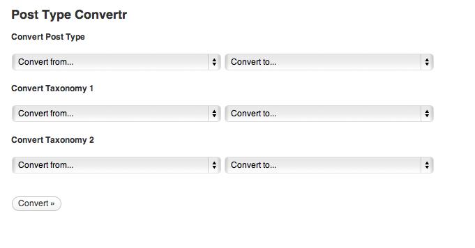 Post Type Convertr bulk change