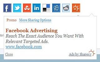 Screenshot Of A Sharexy Share Button Ad.