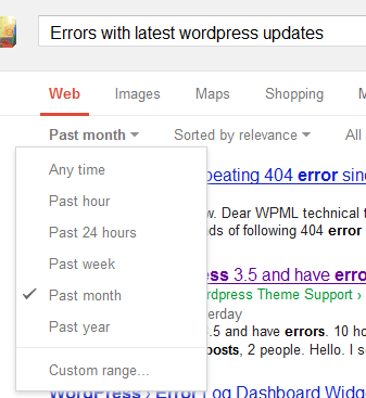 Google-Search-For-WordPress-Update-Errors