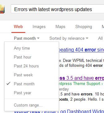 Google-Search-For-WordPress-Update-Errors