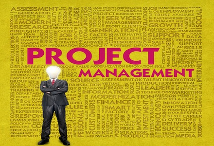 Business word cloud for business concept, Project management
