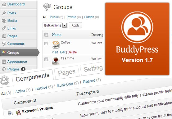 BuddyPress 1.7 will be compatible with all WordPress themes