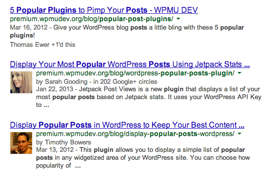 Popular post plugins search