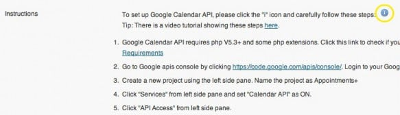 Click the blue button to reveal instructions for how to integrate Google Calendar. You know you want to.