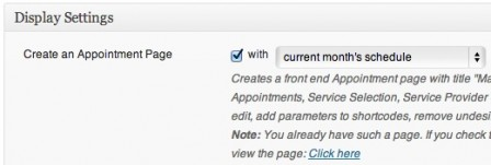 You can automatically create a page where clients can make an appointment on your site.