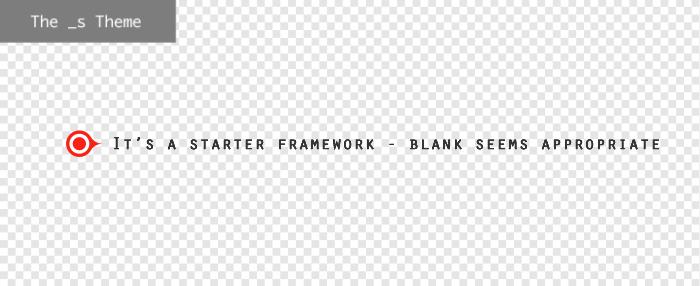 Underscores WordPress theme framework