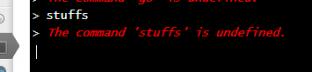 Command Line errors