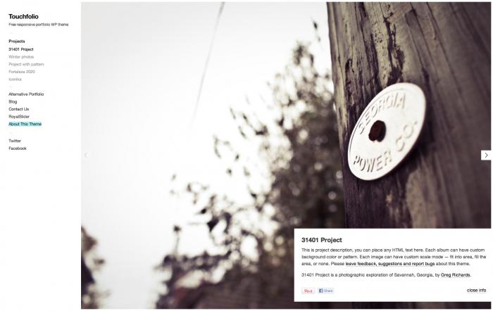 Touchfolio WordPress Theme