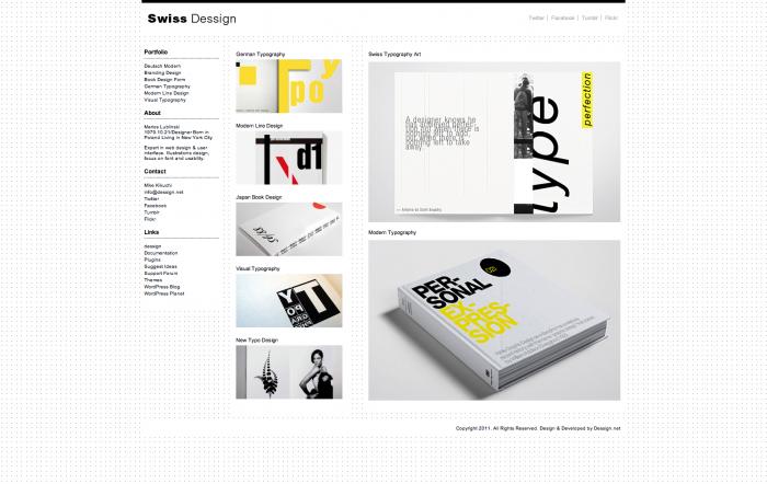 Swiss WordPress theme