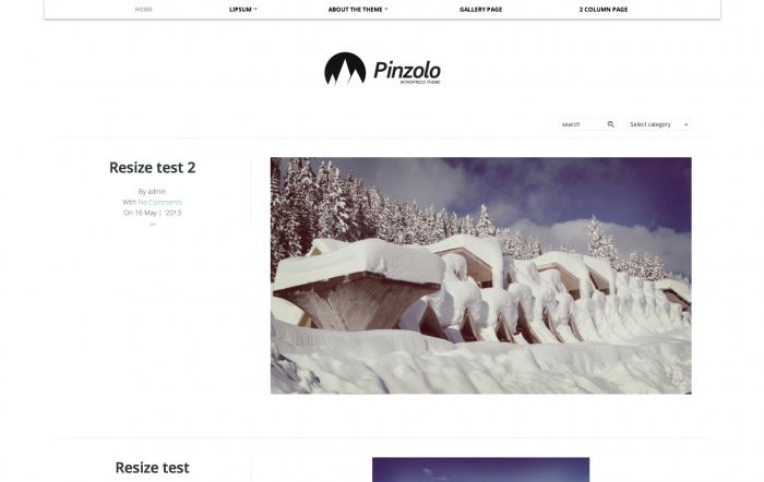 Pinzolo WordPress theme