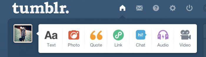 Tumblr post formats