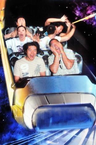 Riding Space Mountain at Disneyland