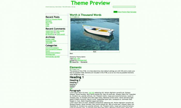 A WordPress theme