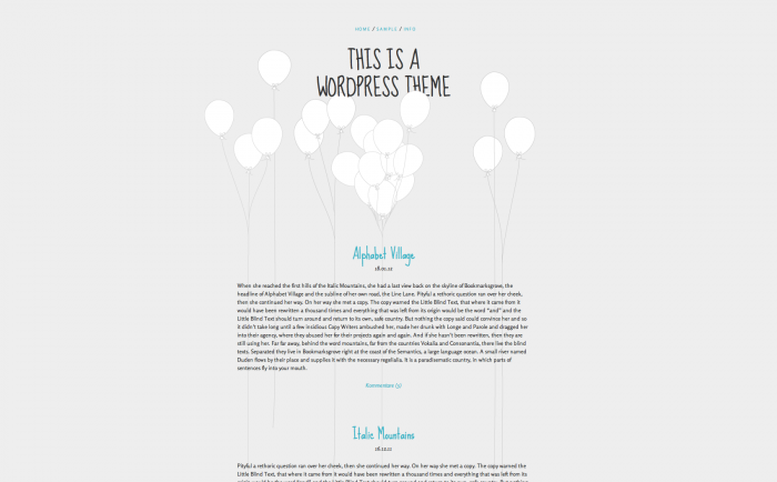 Balloons WordPress theme