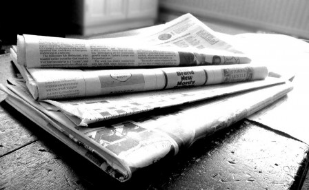 Black and white newspapers