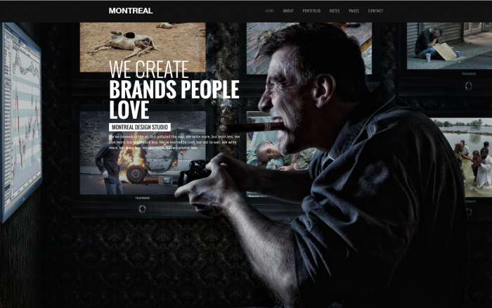 Montreal WordPress theme