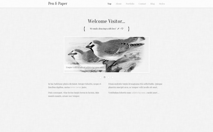 Pen and Paper WordPress theme