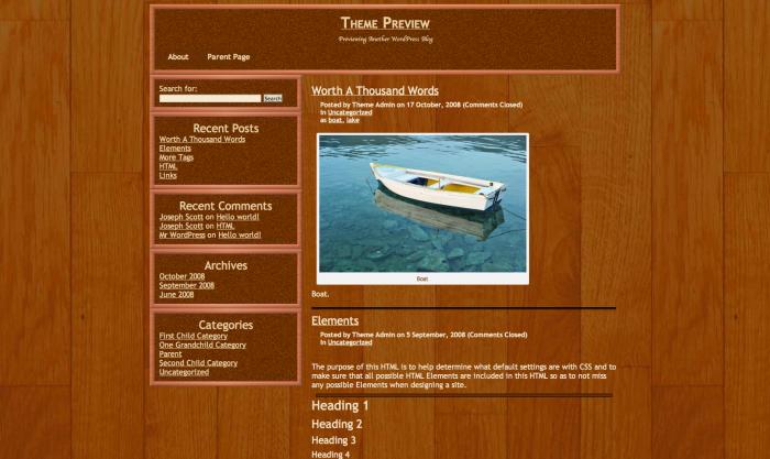 Shelter WordPress theme