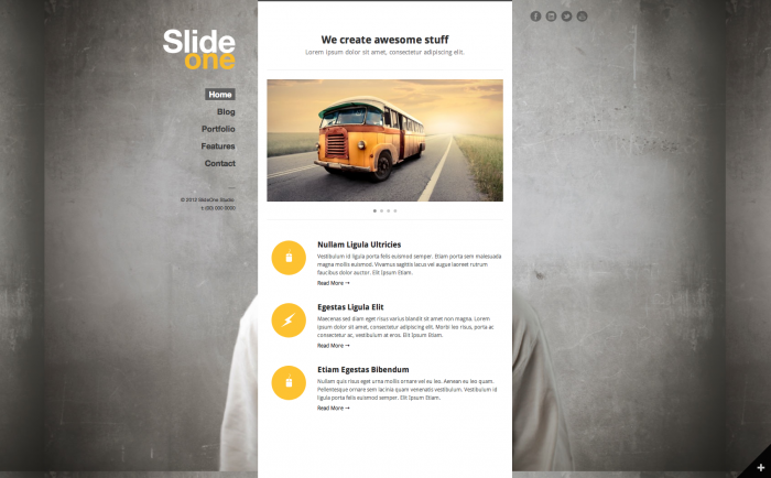 SlideOne WordPress theme