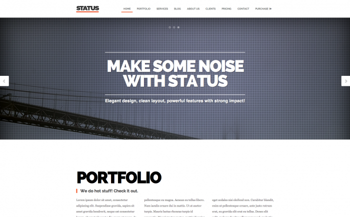 Status WordPress theme