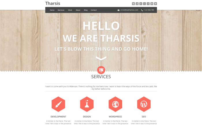 Tharsis WordPress theme