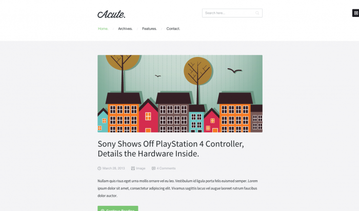 Acute flat WordPress theme