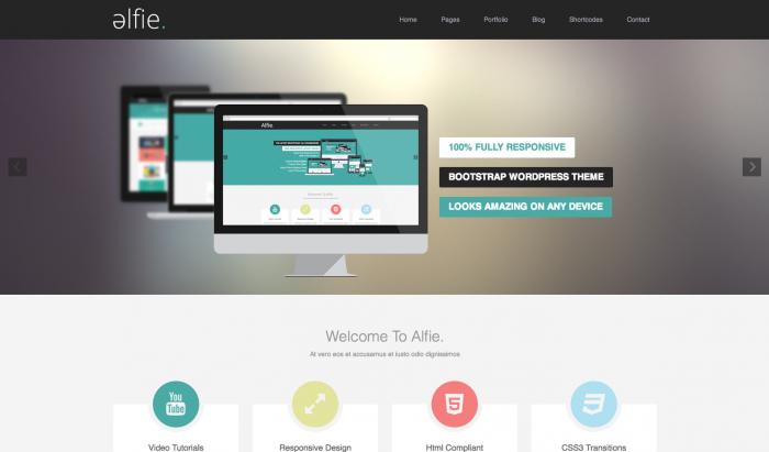 Alfie flat WordPress theme