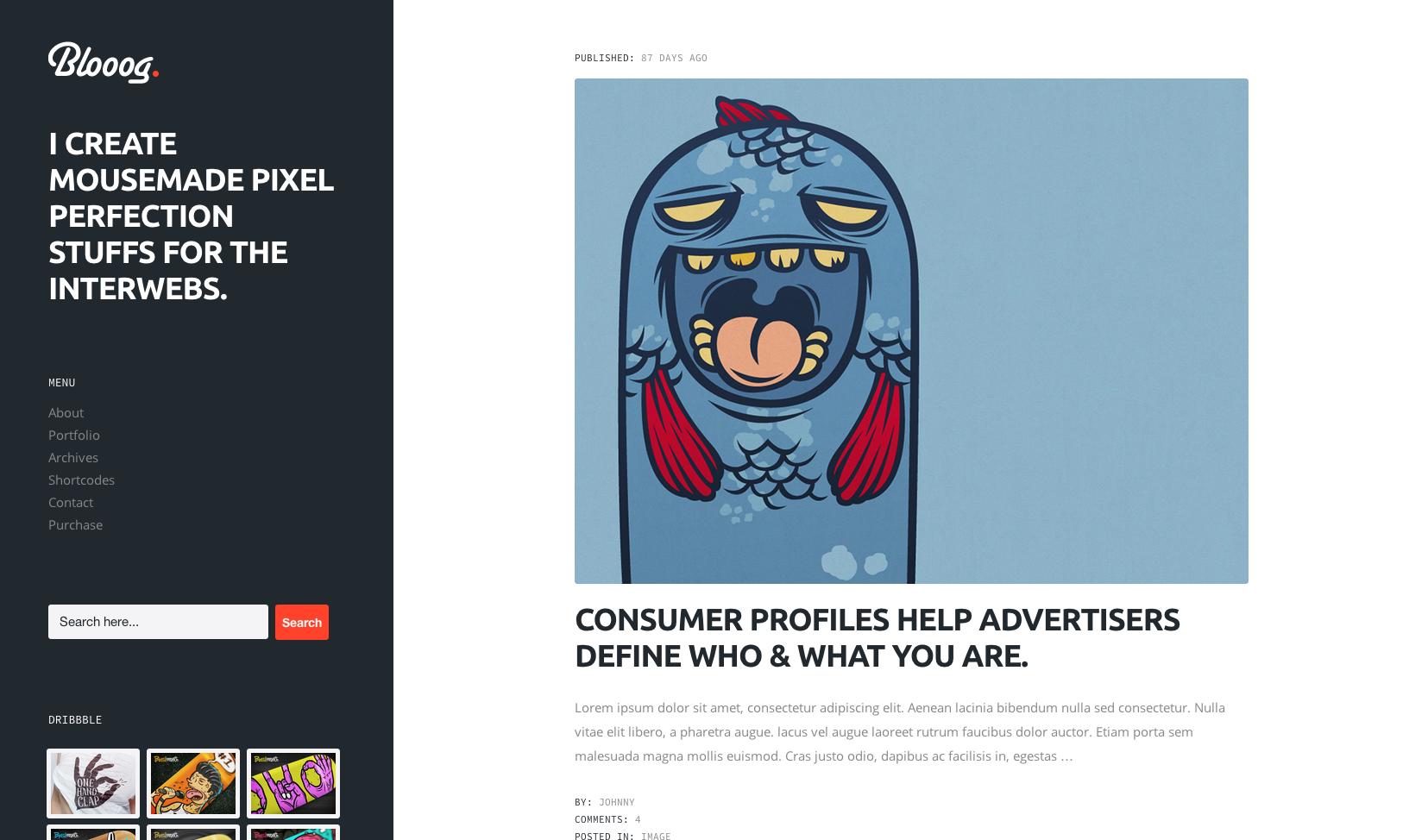 Bloog flat WordPress theme