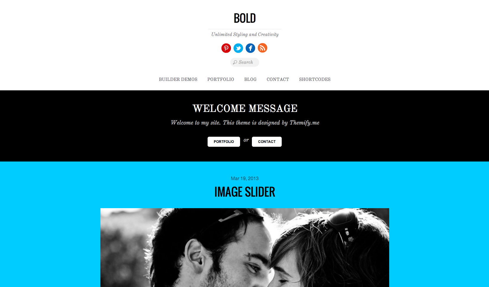 Bold flat WordPress theme