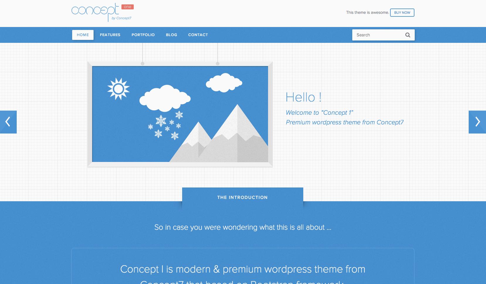 Concept 1 flat WordPress theme