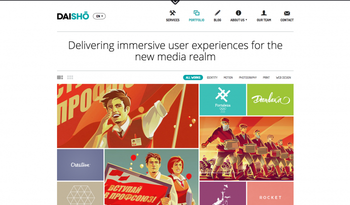 Daisho flat WordPress theme